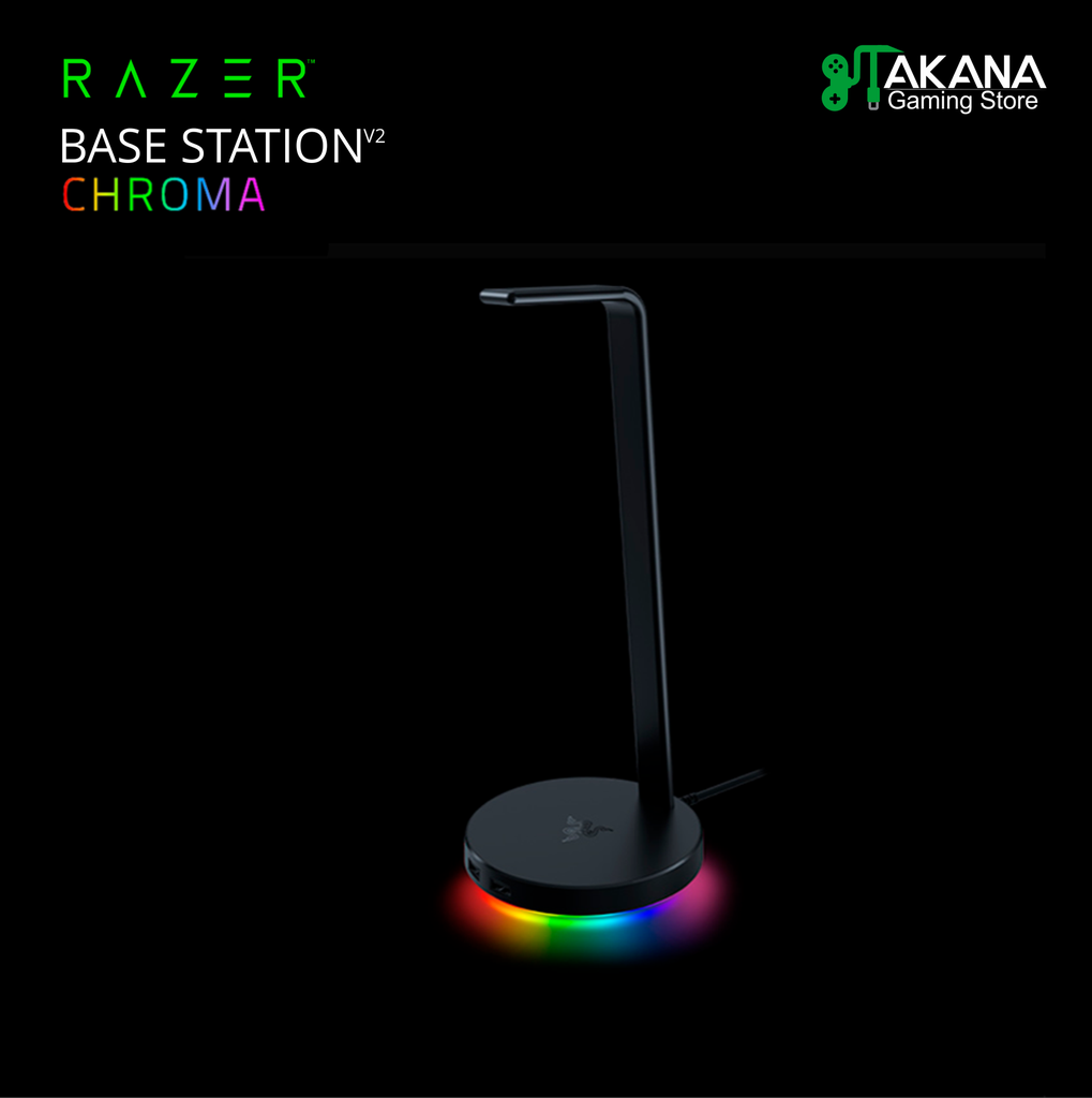 Base Razer P/Auricular V2 Chroma USB 3.1 Black