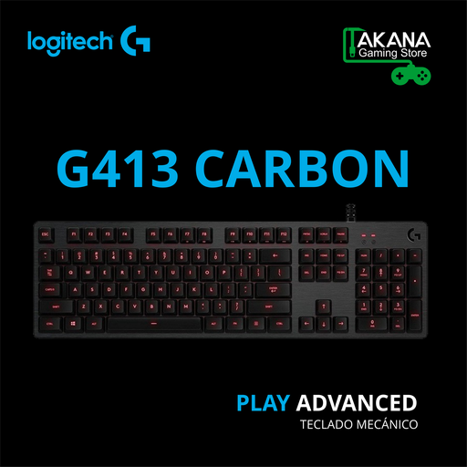 Teclado Logitech G413 Red Backlight